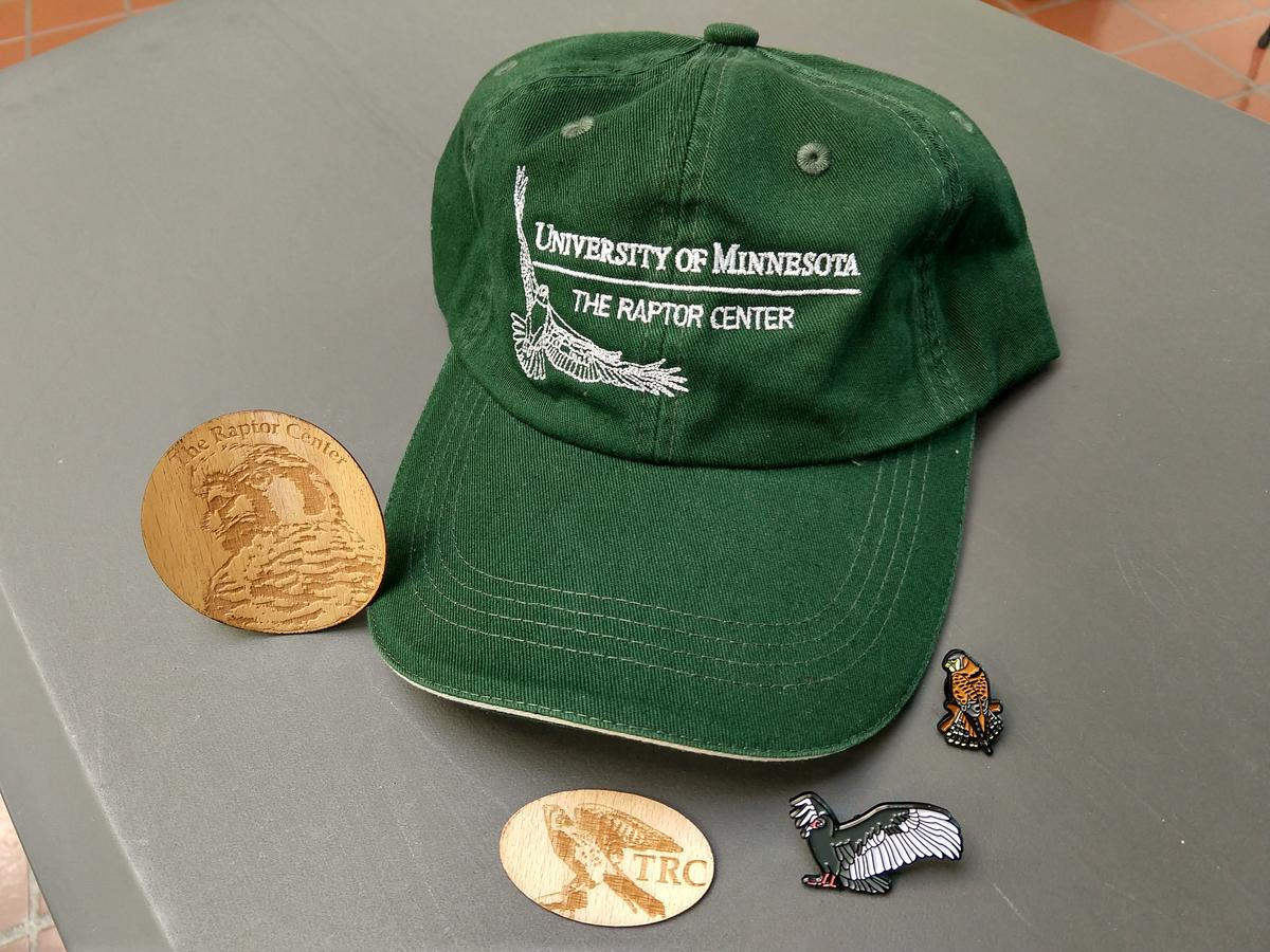 Gift shop items- hat and wooden coins